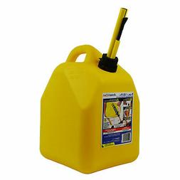 Scepter 00004 Yellow 5 Gallon Diesel Fuel Gas Storage Tank C
