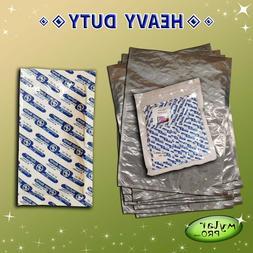 10 5 Gallon 20x30 Mylar Pro Foil Bags + 10 2000cc Oxygen Abs