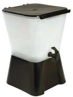 CARLISLE 1082003 Beverage Dispenser,Square,3 Gal,Black