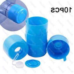 10Pc 5 Gallon replacement Water Bottle Snap On Cap Anti Spla