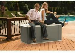 Rubbermaid 121 Gallon Deck Box With Seat Storage Double-Wall