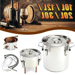 2/3/5/8 Gal Water Wine Alcohol Distiller Moonshine Boiler St