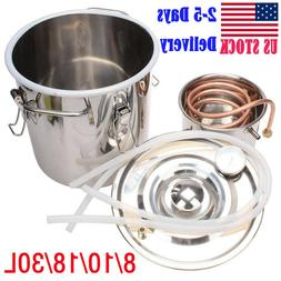 2/3/5/8Gal Water Alcohol Wine Distiller Moonshine Still Boil