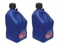 2 Pack VP 5 Gallon Square Blue Racing Utility Jugs