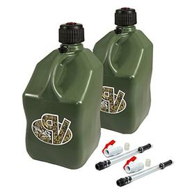 2 Pack VP 5 Gallon Square Camo Racing Utility Jugs with 2 De