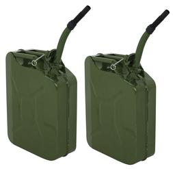 2X Gas Gasoline Jerry Can Fuel Army Army Backup Metal Steel