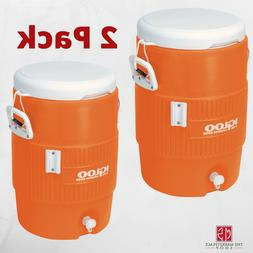 2-Pack Igloo 5 Gallon Heavy Duty Beverage Water Cooler Pour