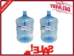 2-Pack American Maid 5 Gallon Water Bottle Clear 53mm Cap Si