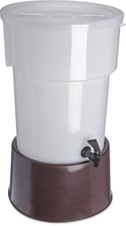 Carlisle 223001 Brown 5 Gallon Round Beverage Dispenser with