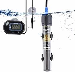 25Watt Aquarium Heater with Aquarium Submersible Thermometer