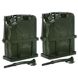 2x jerry can fuel tank w holder