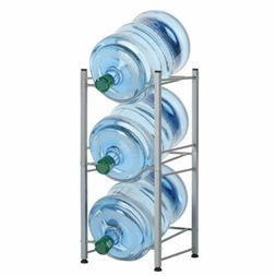 Water Bottle Rack Storage 3 Tier Shelf System Stand For 5 Ga