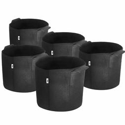 5 Pack iPower Fabric Pots; Veggies Peppers Flower Plants