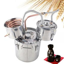 3/5 Gal Wine Alcohol Water Distiller Boiler Stainless Copper