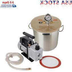3 cfm pump 5 gallon stainless steel