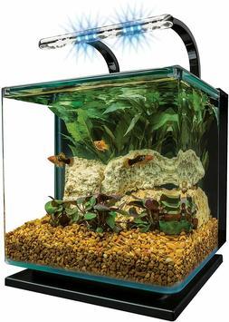 3 or 5 Gallon Contoured Fish Tank - Easy Aquarium Kit w/ Fil