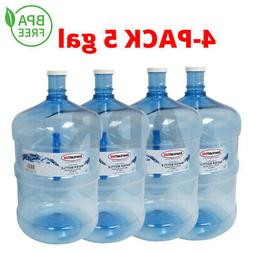 4-Pack 5 Gallon Water Bottle BPA-FREE Liquid Container Big R