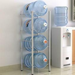 4 Tier Water Cooler Jug Rack 5 Gallon Water Bottle Storage R