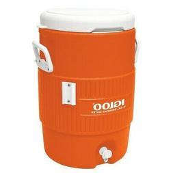 Igloo 42316 Orange 5 Gallon Seat Top Beverage Cooler w/Drip-