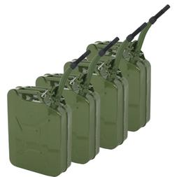 4PCS 5 Gallon 20L Jerry Can Military Style Gas Gasoline Fuel