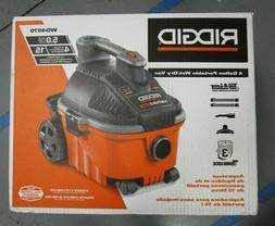 4 gal 5.0-Peak HP Portable Wet Dry Shop Garage Vac Lightweig