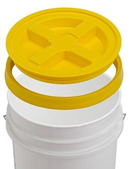 5 Gallon White Bucket & Gamma Seal Lid - Food Grade Plastic
