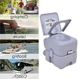 5 Gallon 20L Portable Toilet Flush Travel Camping Outdoor In