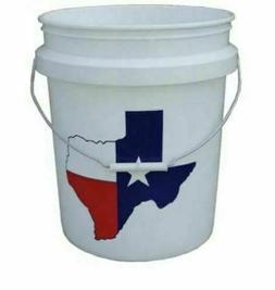 5 Gallon All Purpose Bucket Commercial Storage Durable Plast