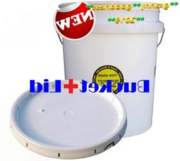 5 Gallon All Purpose Bucket with Lid Commercial Food Grade D