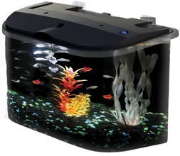 5-Gallon Aquarium with LED Lighting Filter Kids Complete Fis