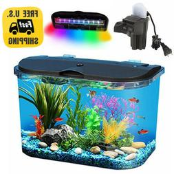 5 Gallon Big Fish Aquarium Kit Led Light Filter Starter Wate