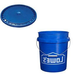 5 GALLON BUCKET OR LID Commercial Durable All Purpose Plasti