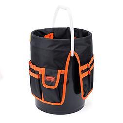 5 Gallon Bucket Organizer 30 Storage Pocket Tool Holder Tote