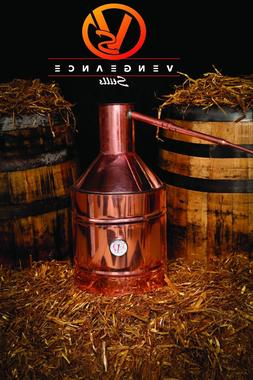 5 Gallon Copper Moonshine Still with Worm and Thumper from V