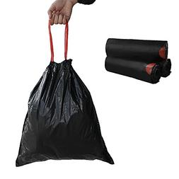 5 Gallon Drawstring Trash Bags Black Home Kitchen Container