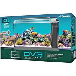 FLUVAL 5 Gallon EVO Saltwater Aquarium Kit, Marine Aquarium