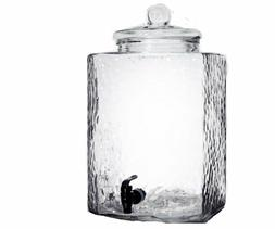 5 Gallon Glass Beverage Dispenser with Spigot Clear Modern S