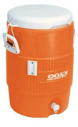 "Igloo 5-Gallon Heavy-Duty Beverage Cooler, Orange 14.5"" x 13"
