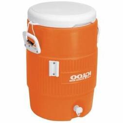 5 gallon heavy duty beverage cooler orange