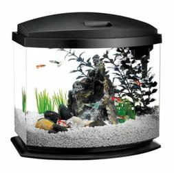 Aqueon 5 Gallon MiniBow LED Desktop Fish Aquarium Kit, Black