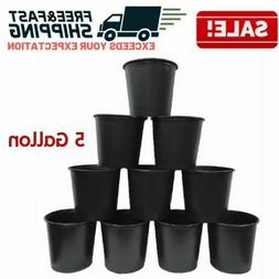 5 Gallon Nursery Pots Plastic Outdoor Flower Garden Vegetabl