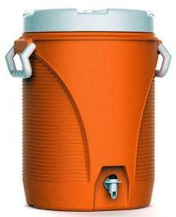 Rubbermaid 5 Gallon Orange Water Cooler With Cup Dispenser I