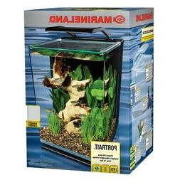 Fish Aquarium Kit 5 Gallon Portrait Clear Glass Bright White