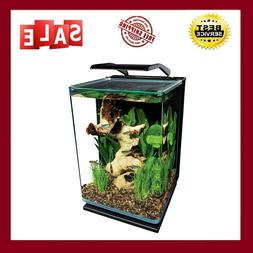 5 Gallon Portrait Glass LED Aquarium Kit, 3-stage hidden bac