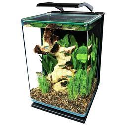 5 Gallon Portrait Glass LED Aquarium Kit Betta &others moon/