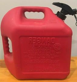 5 Gallon Red Gas Fuel Can Plastic Enviro Flo Plus