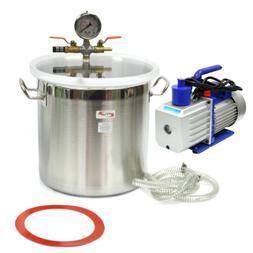 5 gallon stainless steel vacuum degassing chamber