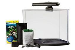 5 Gallon Tetra Crescent Acrylic Fish Tank Glass Aquarium Kit