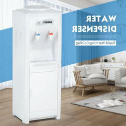 Water Cooler Dispenser Top Loading Hot&Cold Bottle with Stor