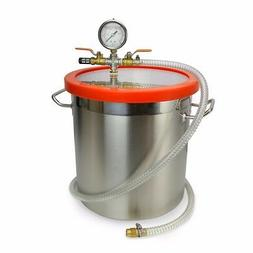 5 gallon vacuum chamber stage pump degassing